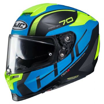 HJC RPHA 70 Vias Blue MC2SF Motorcycle Full Face Helmet Blue Black Free Pinlock